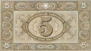 5 francs (2ème série) -  revers