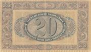 20 Francs (2ème série, type 3) – revers
