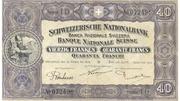 40 Francs (2ème série, billet de réserve) – avers