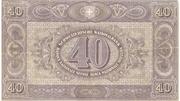 40 Francs (2ème série, billet de réserve) – revers