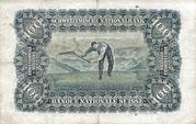 100 francs (2ème série, type 2) – revers