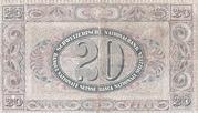 20 francs (2ème série, type 2) – revers