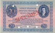 20 Francs (3ème série,  billet de réserve) – avers