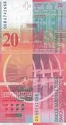 20 francs (8ème série) – revers