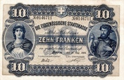 10 francs - Caisse fédérale (texte en allemand) – avers