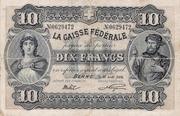 10 francs - Caisse fédérale (en français) – avers