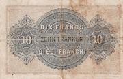 10 francs - Caisse fédérale (en français) – revers