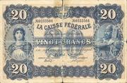 20 francs - Caisse fédérale (texte en français) – avers
