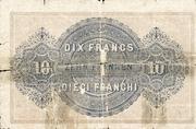 20 francs - Caisse fédérale (texte en français) – revers