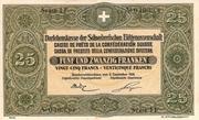 25 francs - Caisse de Prêts – avers