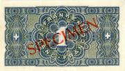 1 franc - Caisse de Prêts (billet de réserve) – revers