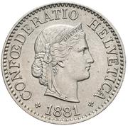 10 centimes Tête de Libertas (cupronickel) – avers