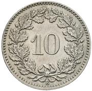 10 centimes Tête de Libertas (cupronickel) – revers