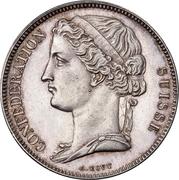 5 francs (essai) -  avers