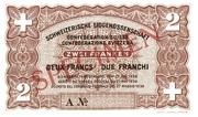 2 francs - Caisse de Prêts (billet de réserve) – avers