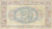 20 francs (2ème série, type 1) – revers