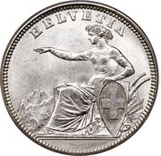 1 franc Helvetia assise (argent 800‰) – avers