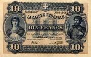 10 francs - Caisse fédérale (texte en français) – avers
