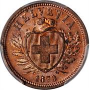 2 centimes Écusson (bronze; type léger) – avers