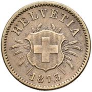 5 centimes Écusson – avers