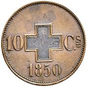 10 centimes (essai) – revers