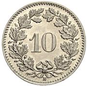 10 centimes Tête de Libertas (nickel) – revers