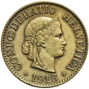 10 centimes Tête de Libertas (laiton) – avers