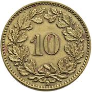 10 centimes Tête de Libertas (laiton) – revers