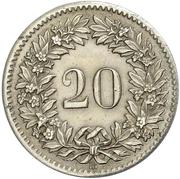 20 centimes Écusson – revers
