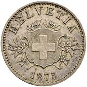20 centimes Écusson (essai; billon) – avers