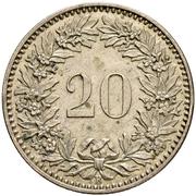 20 centimes Écusson (essai; billon) – revers