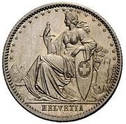 20 centimes Helvetia (essai; cupronickel) – avers