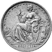 20 centimes Helvetia (essai; billon) – avers