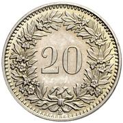20 centimes Tête de Libertas (cupronickel) – revers
