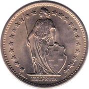 ½ franc Helvetia debout (cupronickel) – avers