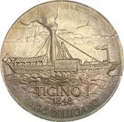 Médaille - La navigation à vapeur sur les lacs suisses au 19ème siècle (Ticino I) -  avers