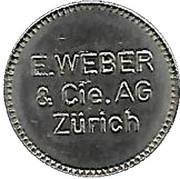 Jeton - E. Weber (Zürich) – avers