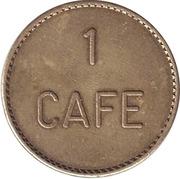 Jeton - 1 Cafe – avers
