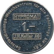 Jeton de lavage automatique - Hypromat (J.H. Keller ; Zürich) – revers