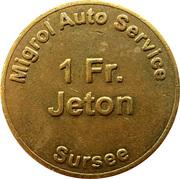1 franc - Migrol (Sursee) – revers