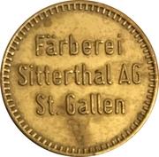 Jeton - Färberei Sitterthal AG (St. Gallen) – avers