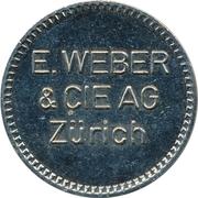 Jeton - E. Weber & CIE AG (Zürich) – avers