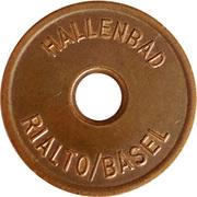 Jeton - Hallenbad (Rialto/Basel) – avers