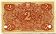 2 francs - Caisse de Prêts (billet de réserve) – revers