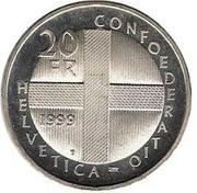 20 francs Bataille de Dornach -  revers