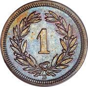 1 centime Écusson (bronze) – revers