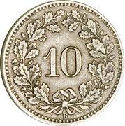 10 centimes Écusson – revers