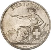2 francs Helvetia assise (argent 800‰) -  avers
