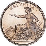 5 francs Helvetia assise -  avers