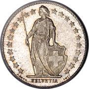 ½ franc Helvetia debout (argent) – avers